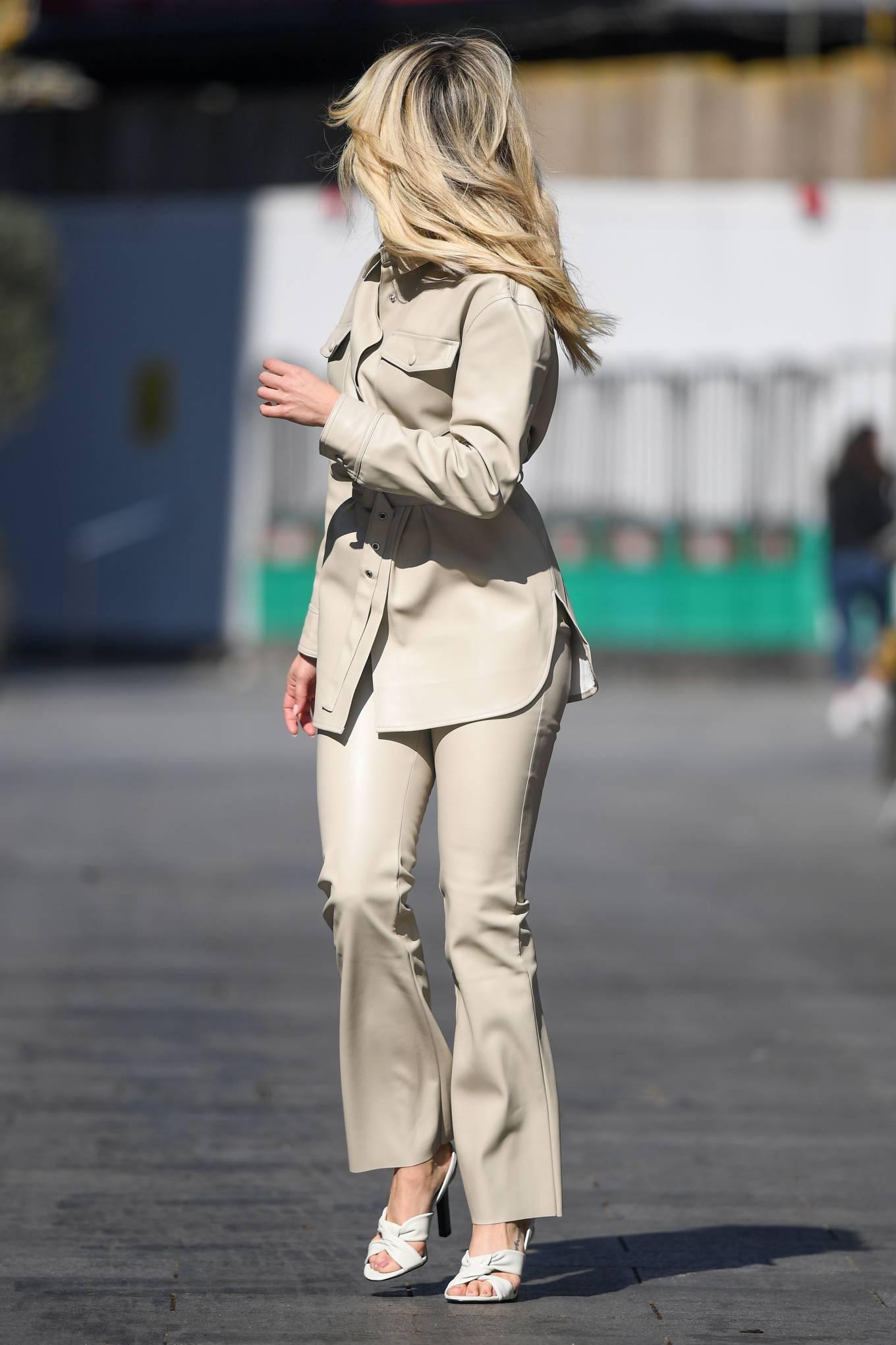 Ashley Roberts 2021 : Ashley Roberts – In white Seen at Global Radio Studios in London-13