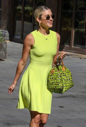 Ashley Roberts in Yellow Dress - Outside Heart FM in London