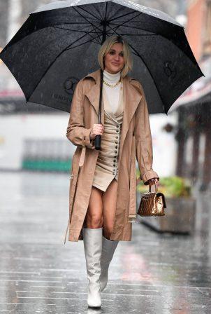 Ashley Roberts - Is seen at Global Radio Studios in London