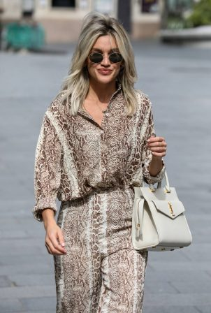 Ashley Roberts - Leaves Global Radio Studios in London
