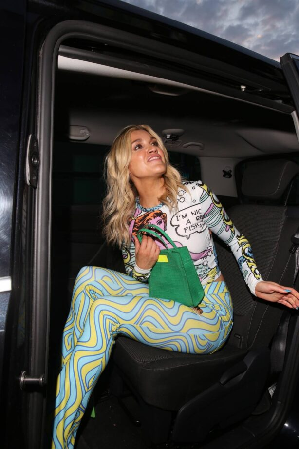 Ashley Roberts - leaves VIP private view of Van Gogh: The Immersive Experience in London