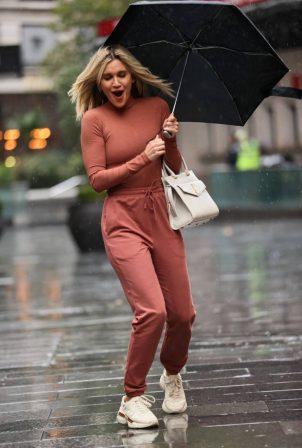 Ashley Roberts - Leaving Heart Radio on rainy day in London