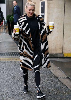 Ashley Roberts - Leaving her hotel in Birmingham