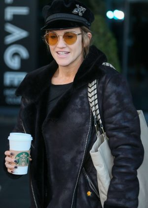 Ashley Roberts - Leaving Hotel for Live Halloween Show in London
