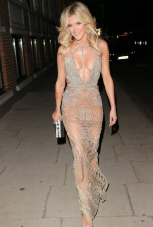 Ashley Roberts - Leaving The Court Private Members Club in London