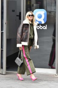 Ashley Roberts - Leaving the Global studios in London