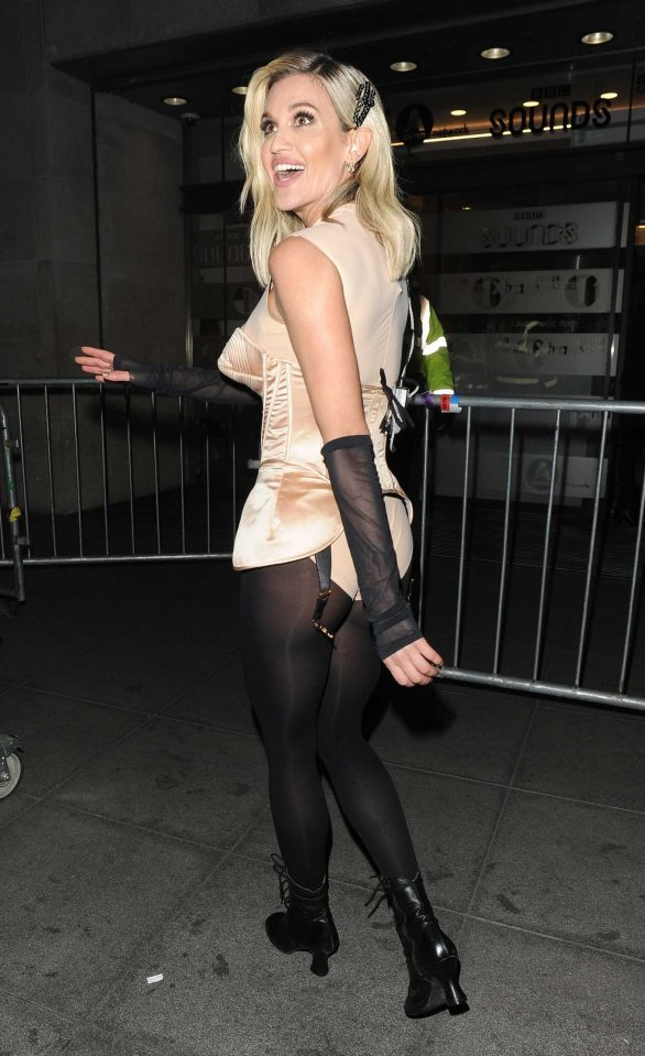 Ashley Roberts - Leaving the Radio 1 studios in London