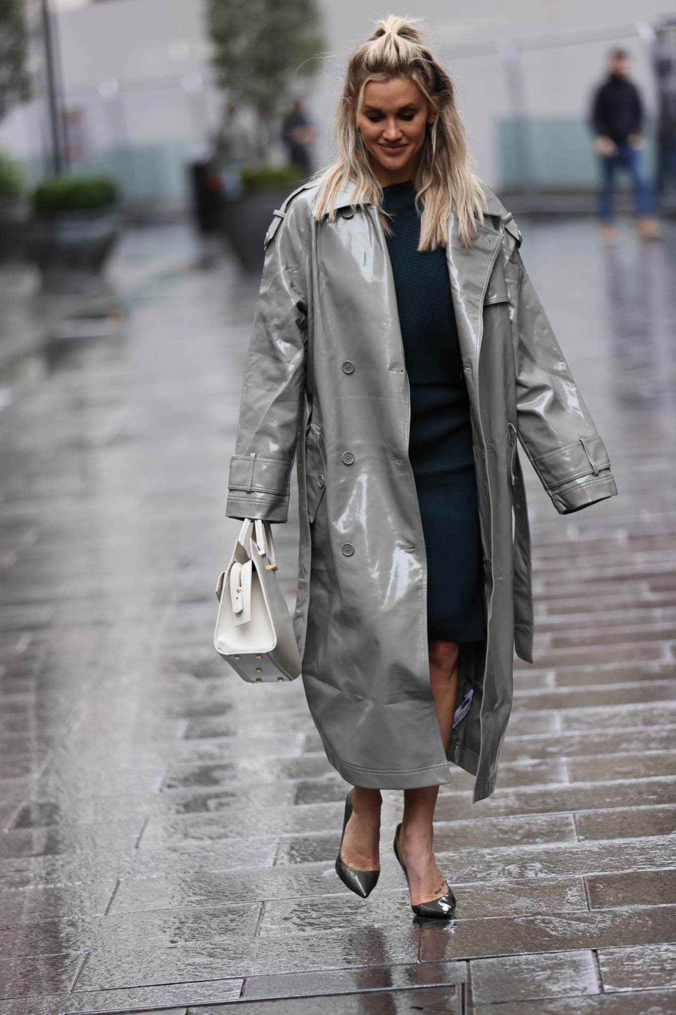 Ashley Roberts 2020 : Ashley Roberts – Looks chic in silver coat and pencil skirt in London-04