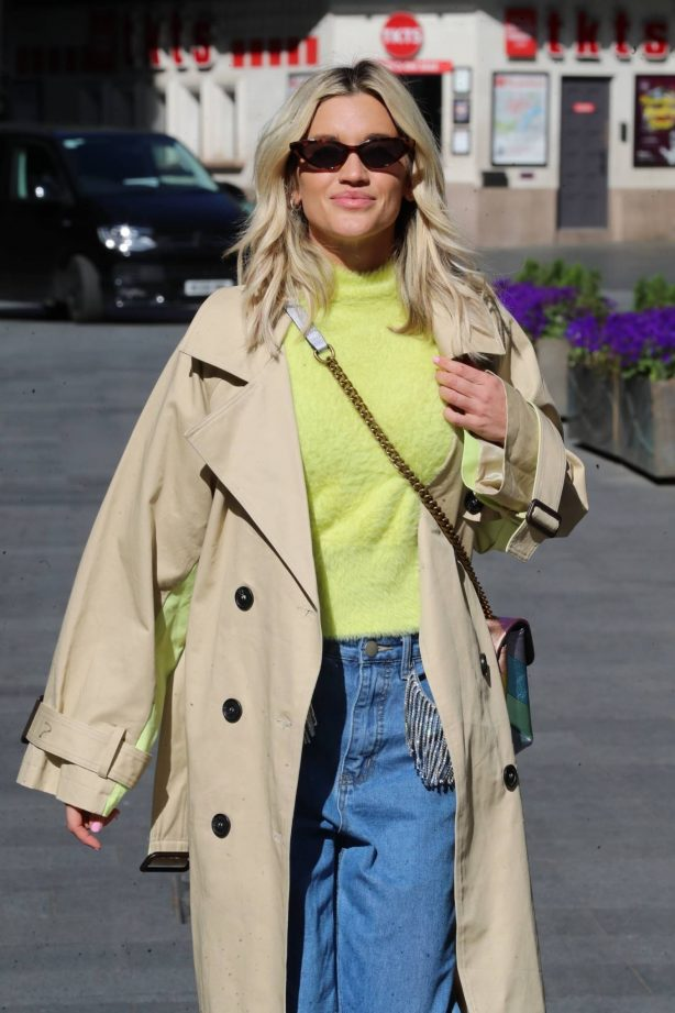 Ashley Roberts - Out in denim trousers and fluffy Top in London