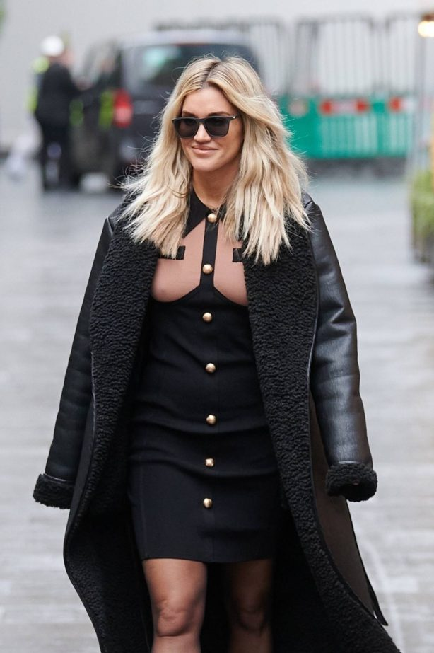 Ashley Roberts - Pictured after the Heart Radio Breakfast show in London