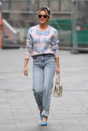 Ashley Roberts - Pictured in denim at Heart radio show in London