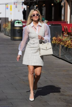 Ashley Roberts - Pictured leaving the Global Studios in London