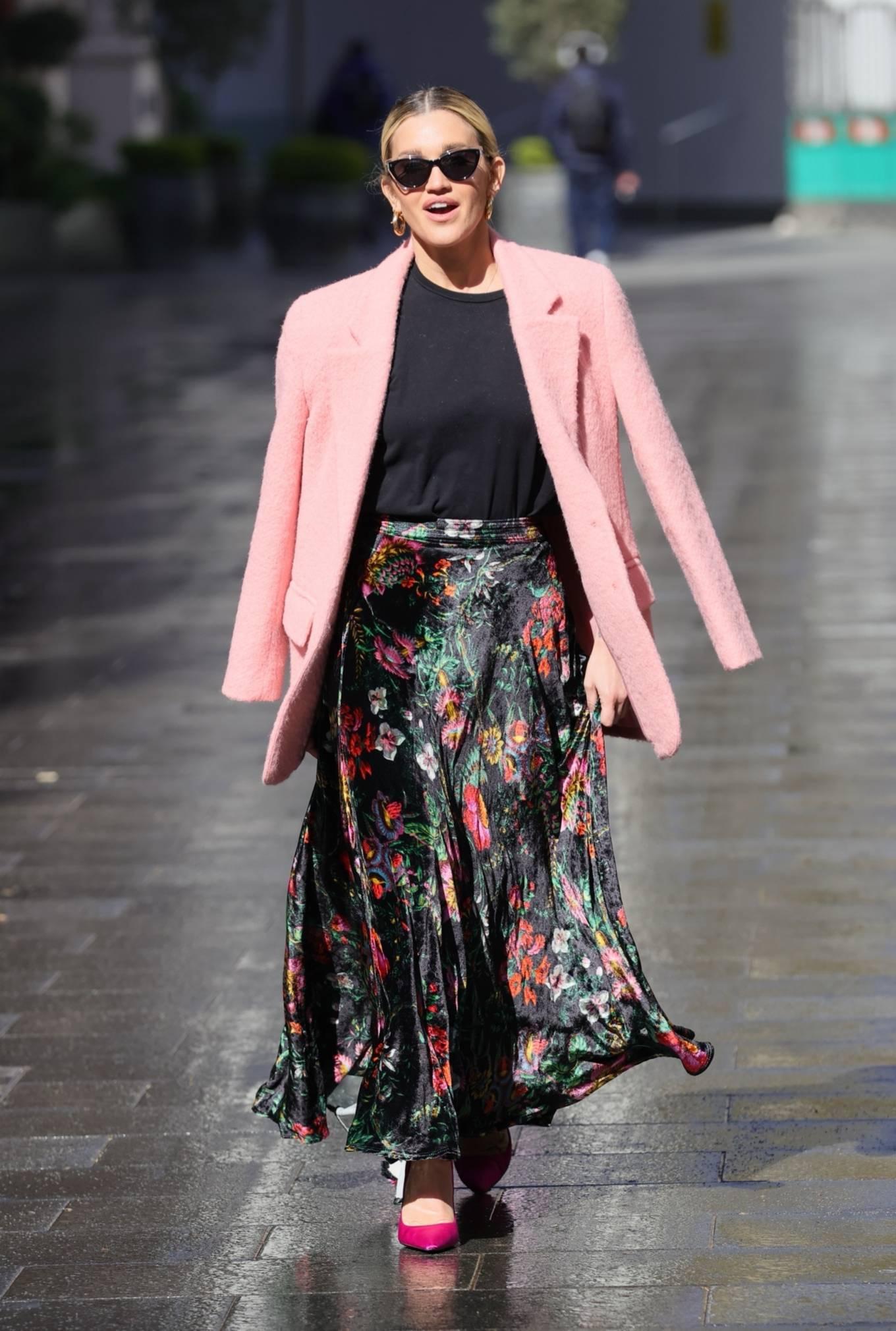 Ashley Roberts 2021 : Ashley Roberts – Seen after the Heart Radio Breakfast Show in London-18