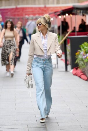 Ashley Roberts - Seen at Global Radio in London