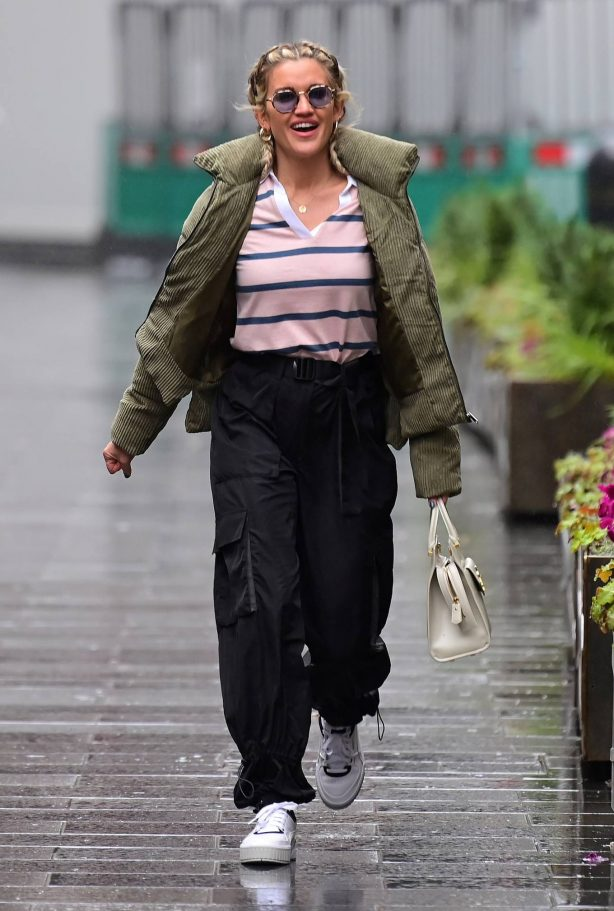 Ashley Roberts - Seen at Global Radio in London