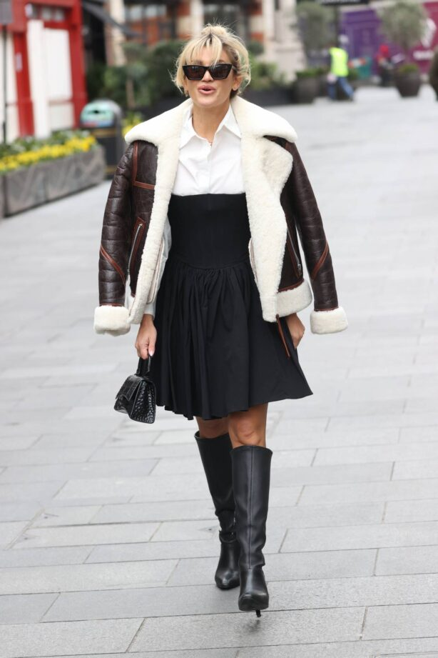 Ashley Roberts - Seen at Global Radio Studios in London