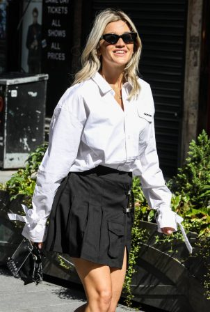 Ashley Roberts seen at the Global Radio Studios in London