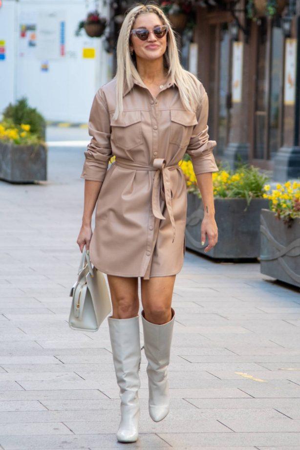 Ashley Roberts - Seen leaving Global Studios Heart FM in London