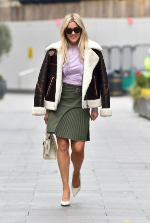 Ashley Roberts - Spotted after the Heart Radio Breakfast Show in London