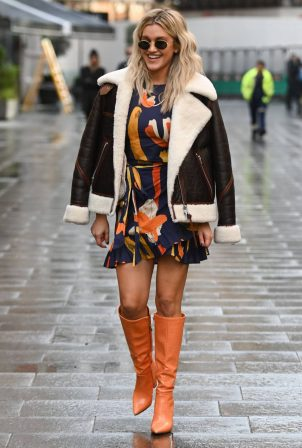 Ashley Roberts - spotted leaving Heart FM Radio in London