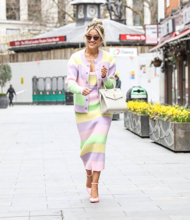Ashley Roberts - Wearing an Olivia Rubin outfit and ASOS heels while out in London