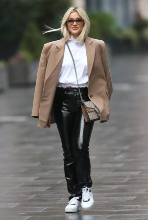 Ashley Roberts - Wearing Fiorucci pants and a More Than Yesterday Jacket in London