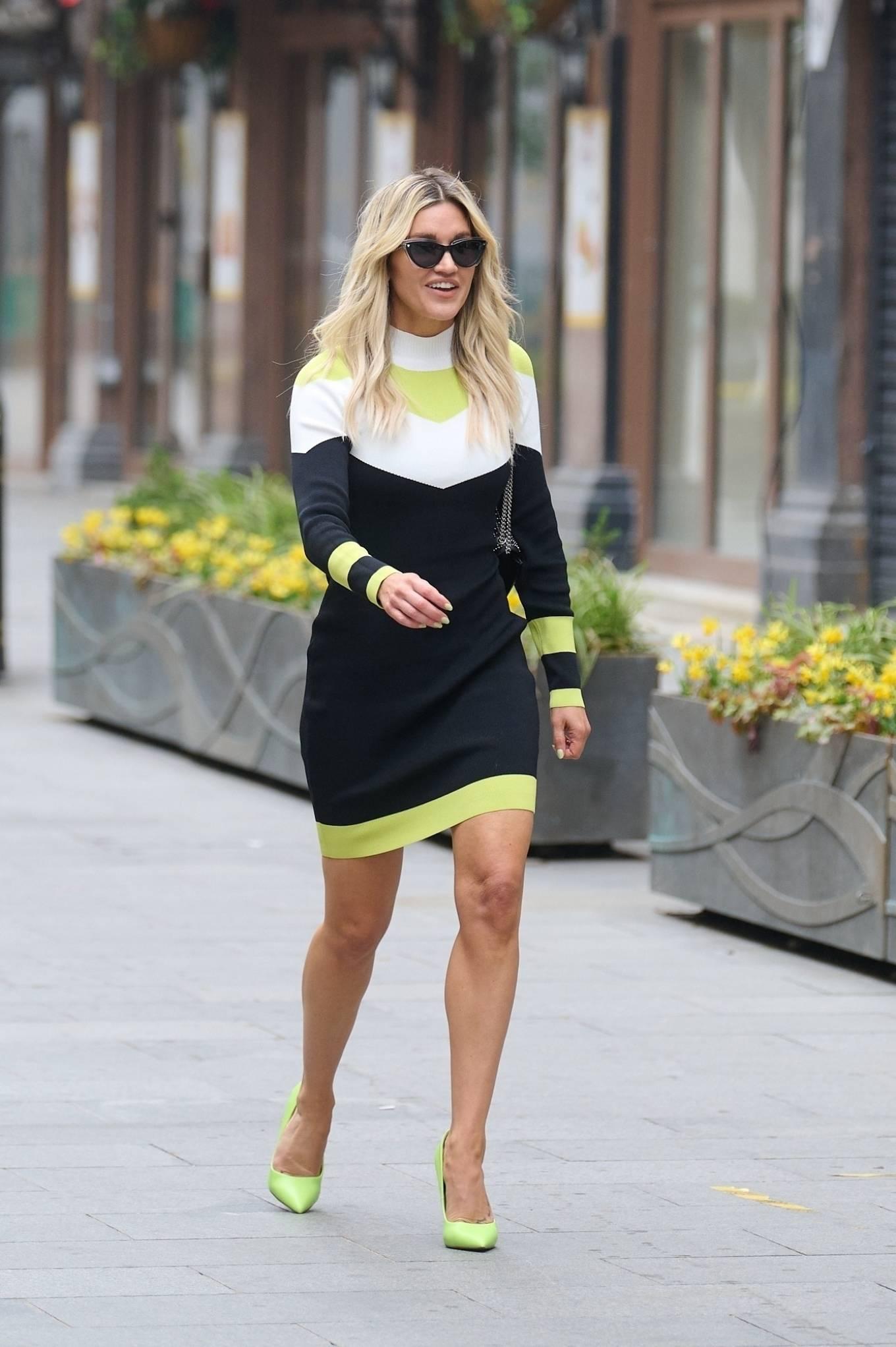 Ashley Roberts - Wears an outfit by Karen Millen in London
