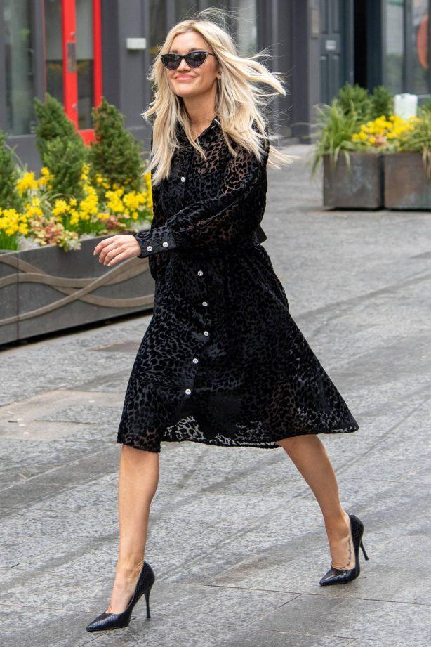 Ashley Roberts - Wears The Artist London dress in London