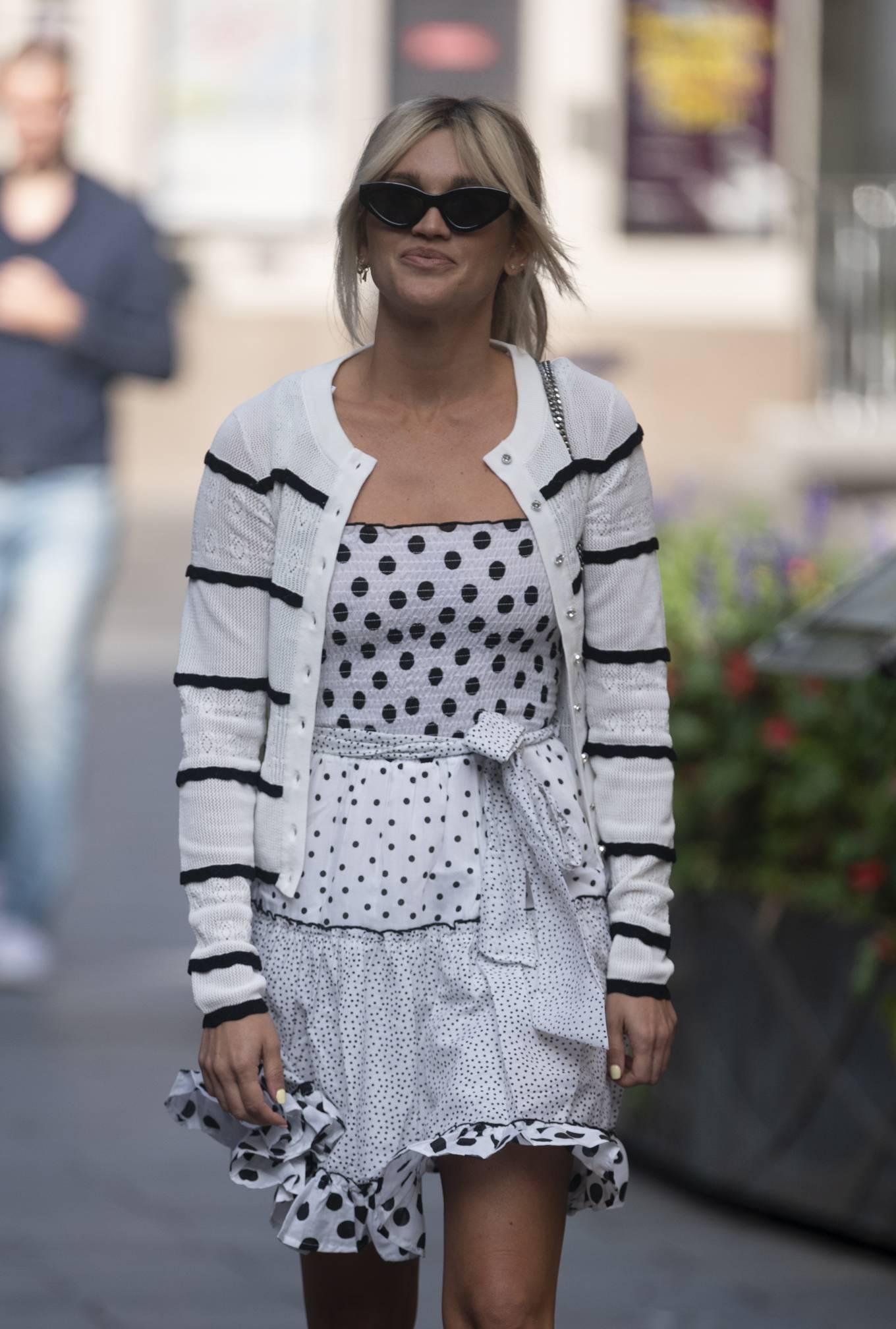 Ashley Roberts 2020 : Ashley Roberts – Wears White Polka Dot dress in London-04