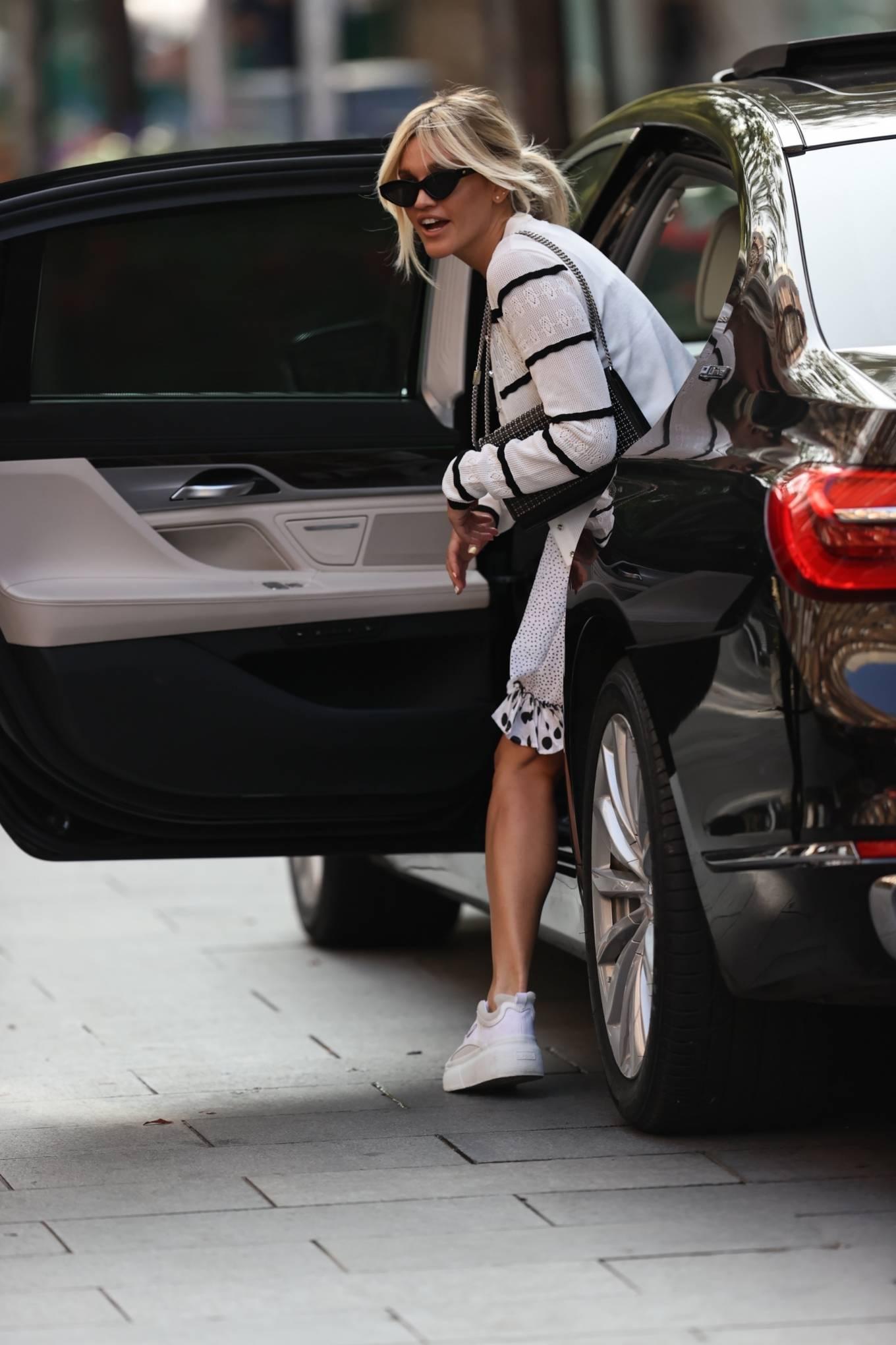 Ashley Roberts 2020 : Ashley Roberts – Wears White Polka Dot dress in London-09