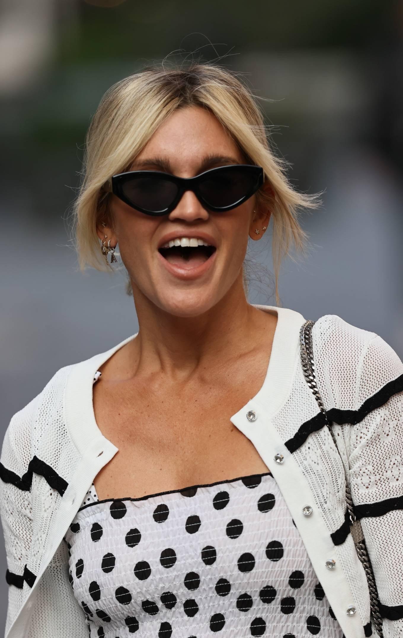 Ashley Roberts 2020 : Ashley Roberts – Wears White Polka Dot dress in London-10