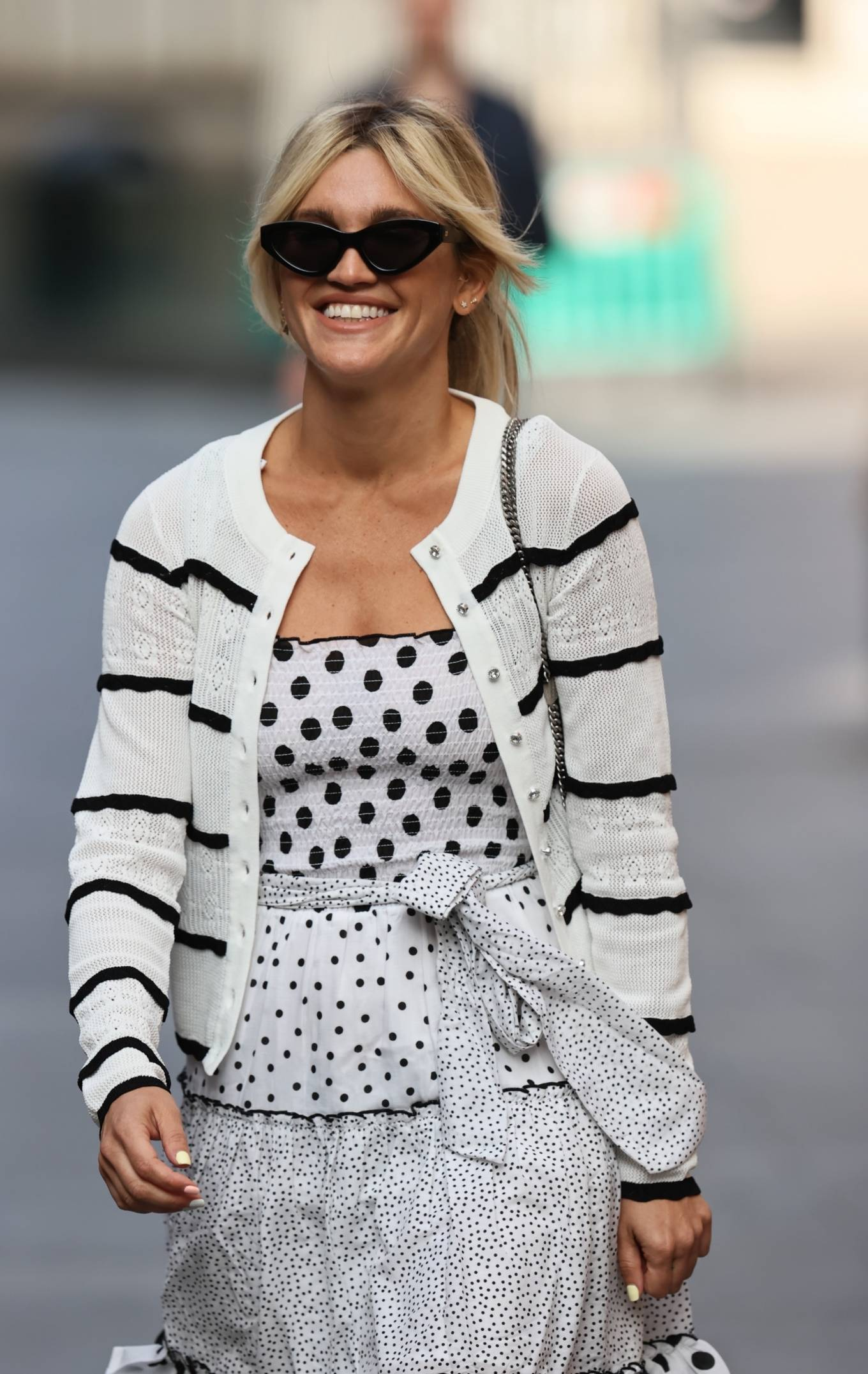 Ashley Roberts 2020 : Ashley Roberts – Wears White Polka Dot dress in London-12