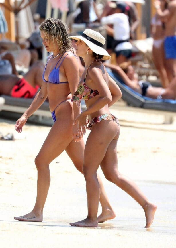 Ashley Roberts - With Janette Manrara in a bikinis at a Beach in Mykonos - Greece