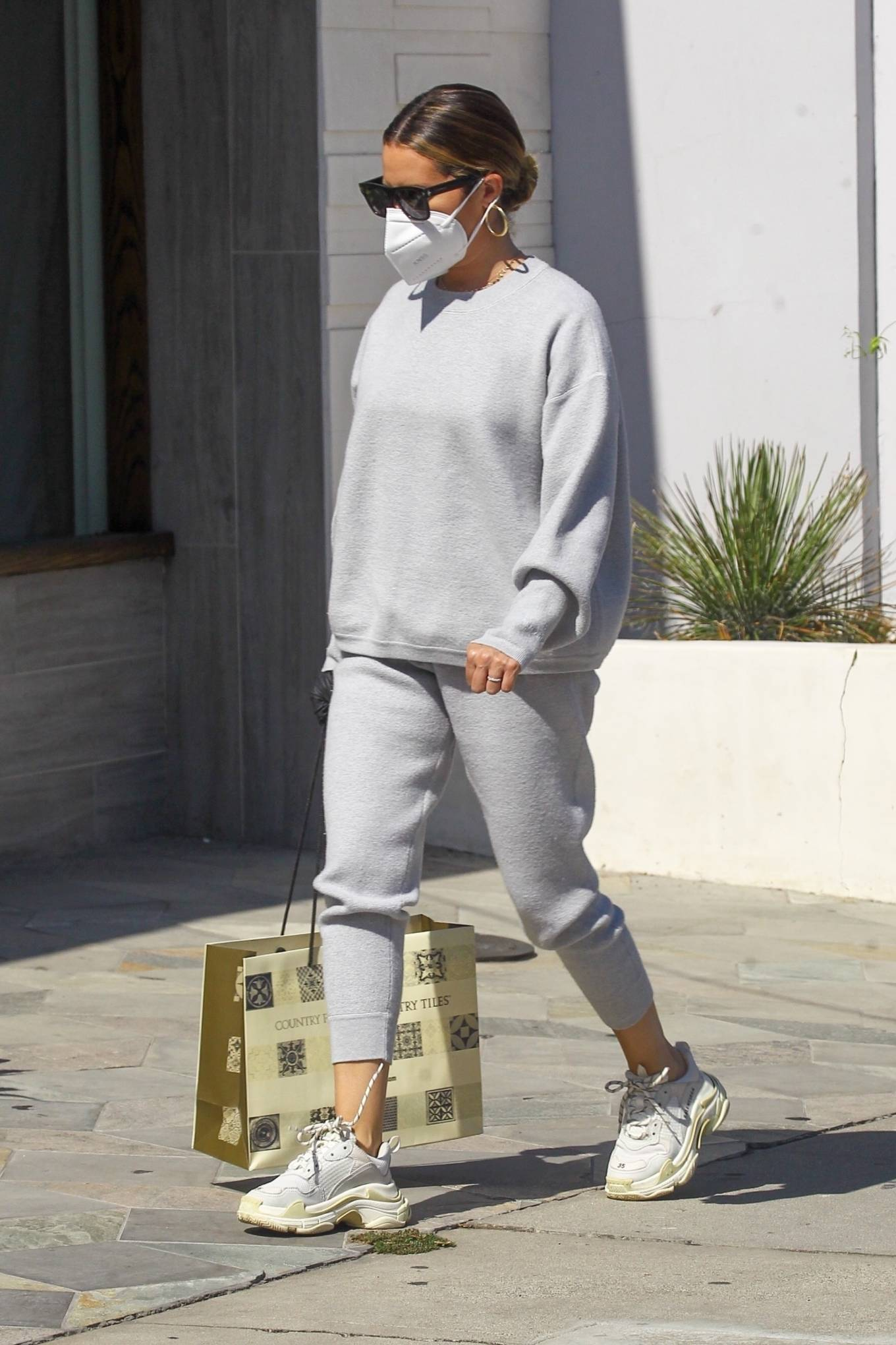 Ashley Tisdale 2020 : Ashley Tisdale – All in gray while out shopping in Beverly Hills-02