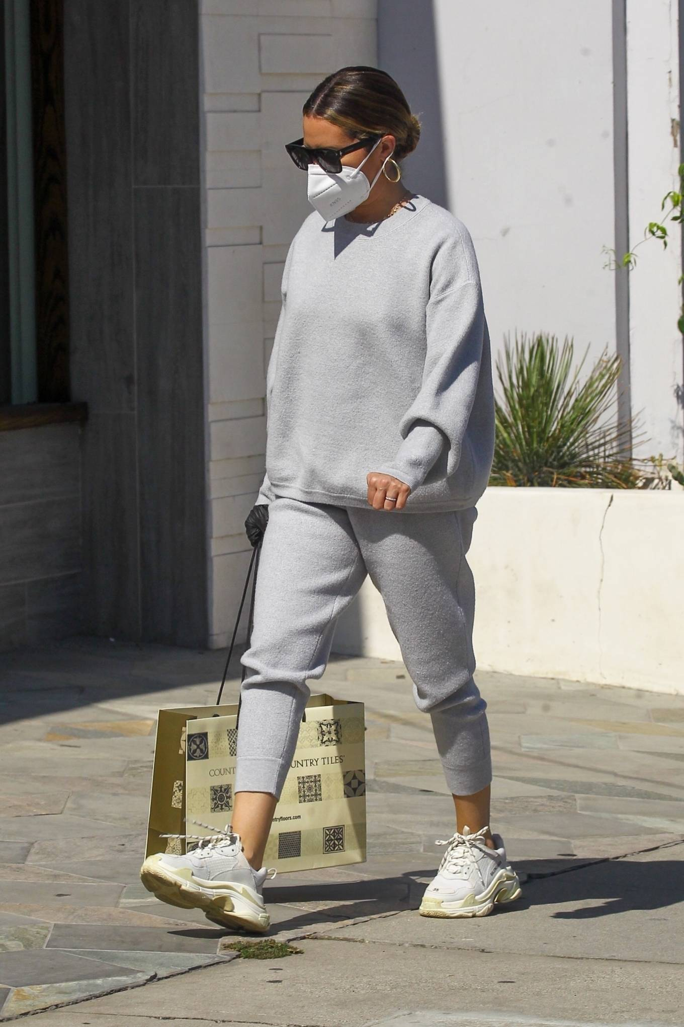 Ashley Tisdale 2020 : Ashley Tisdale – All in gray while out shopping in Beverly Hills-03