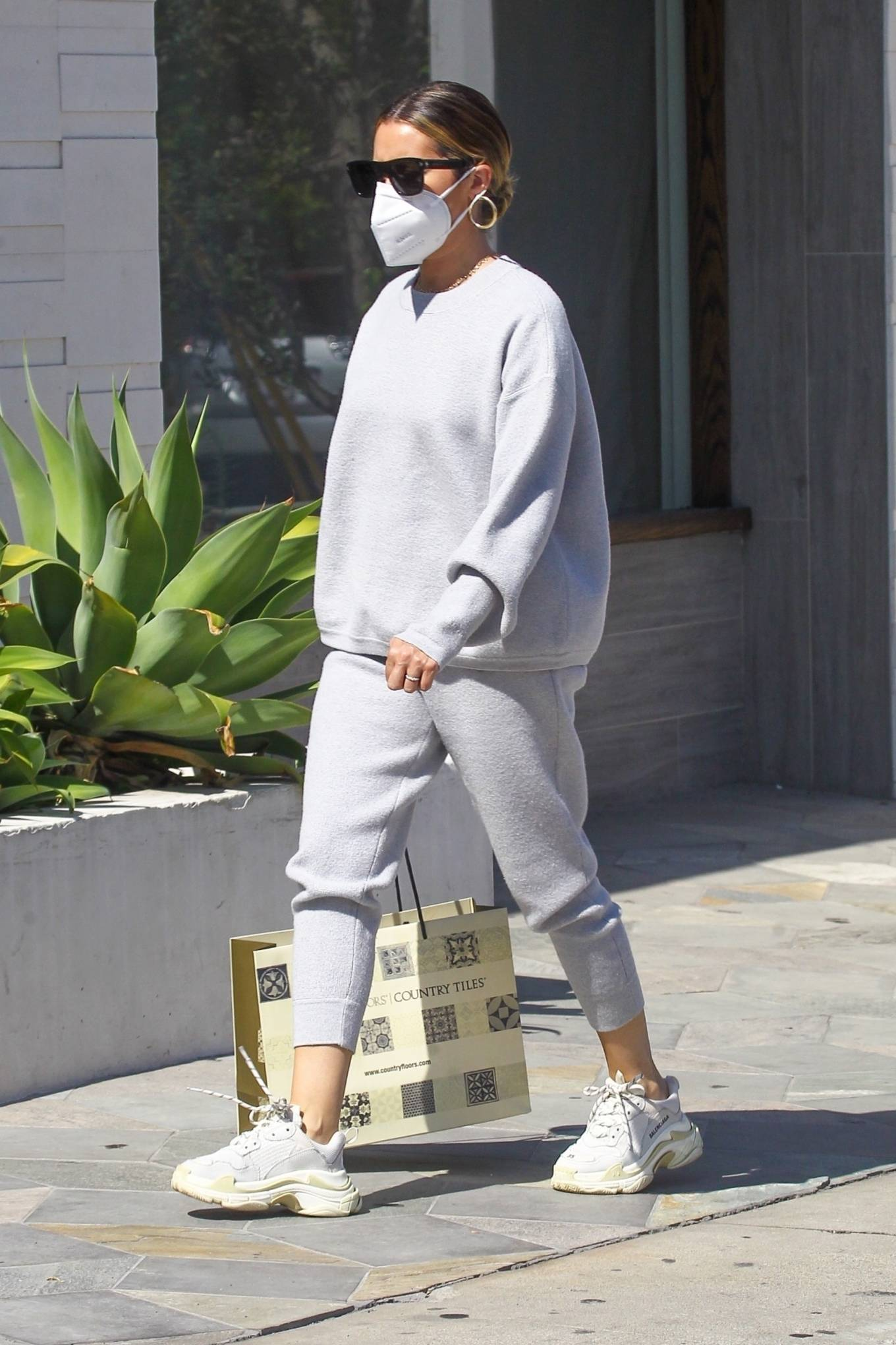 Ashley Tisdale 2020 : Ashley Tisdale – All in gray while out shopping in Beverly Hills-04