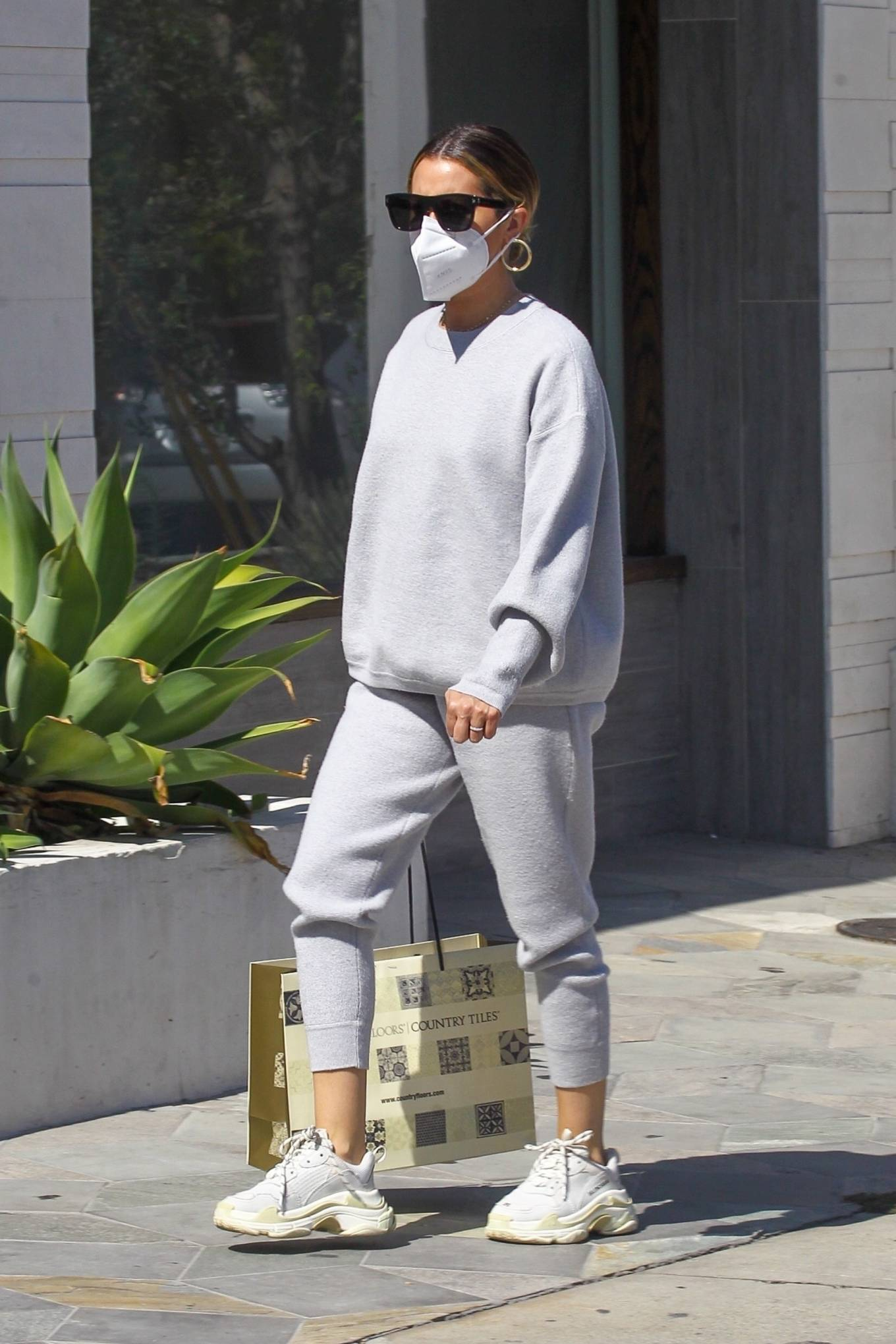 Ashley Tisdale 2020 : Ashley Tisdale – All in gray while out shopping in Beverly Hills-06