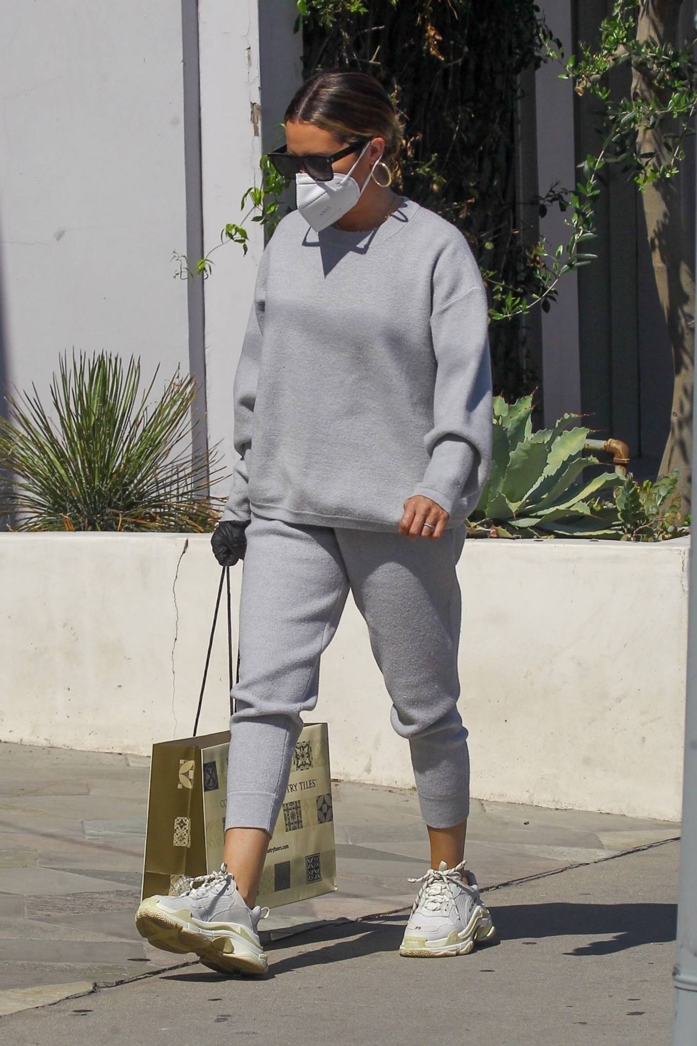 Ashley Tisdale 2020 : Ashley Tisdale – All in gray while out shopping in Beverly Hills-07