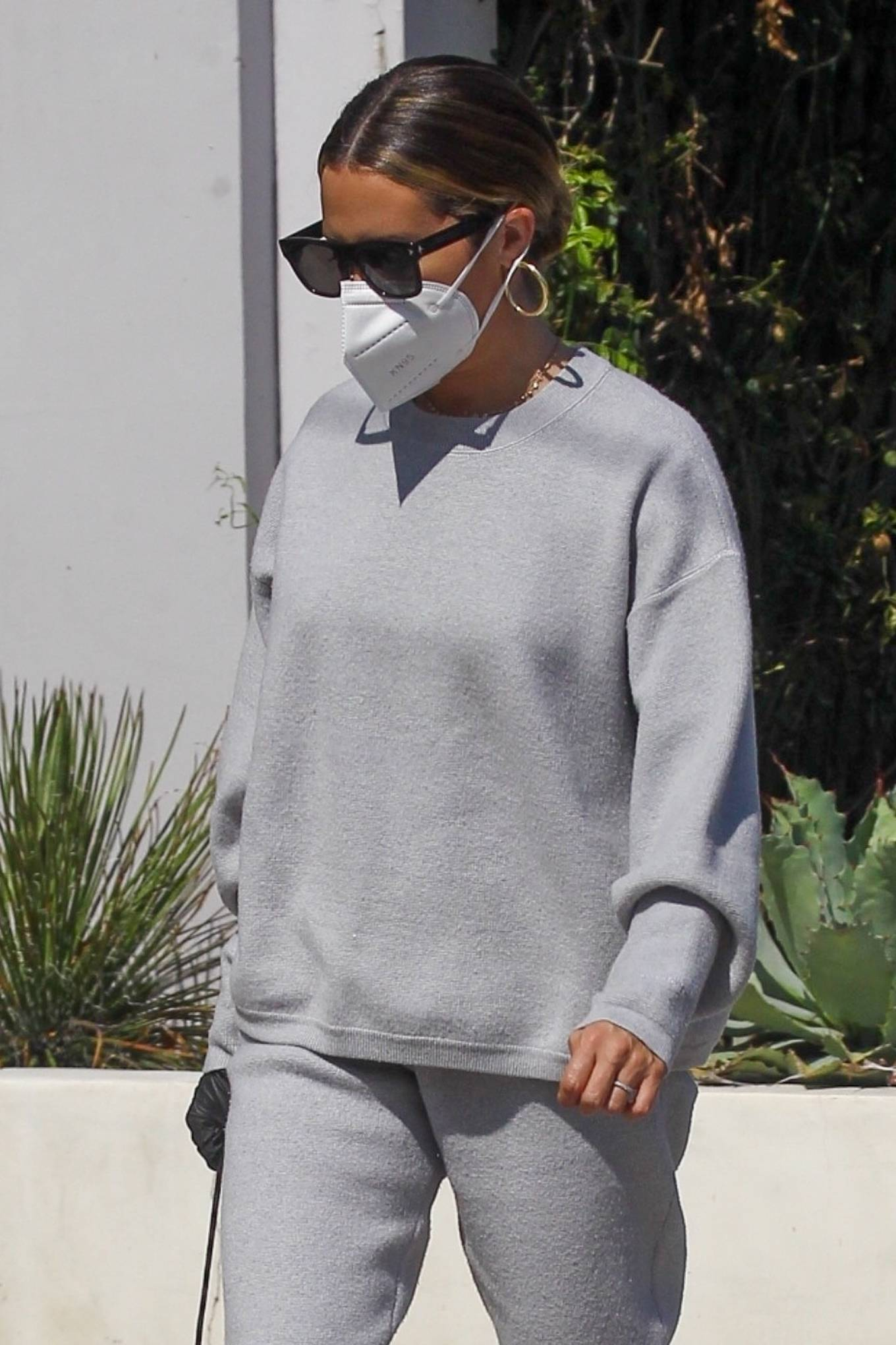 Ashley Tisdale - All in gray while out shopping in Beverly Hills