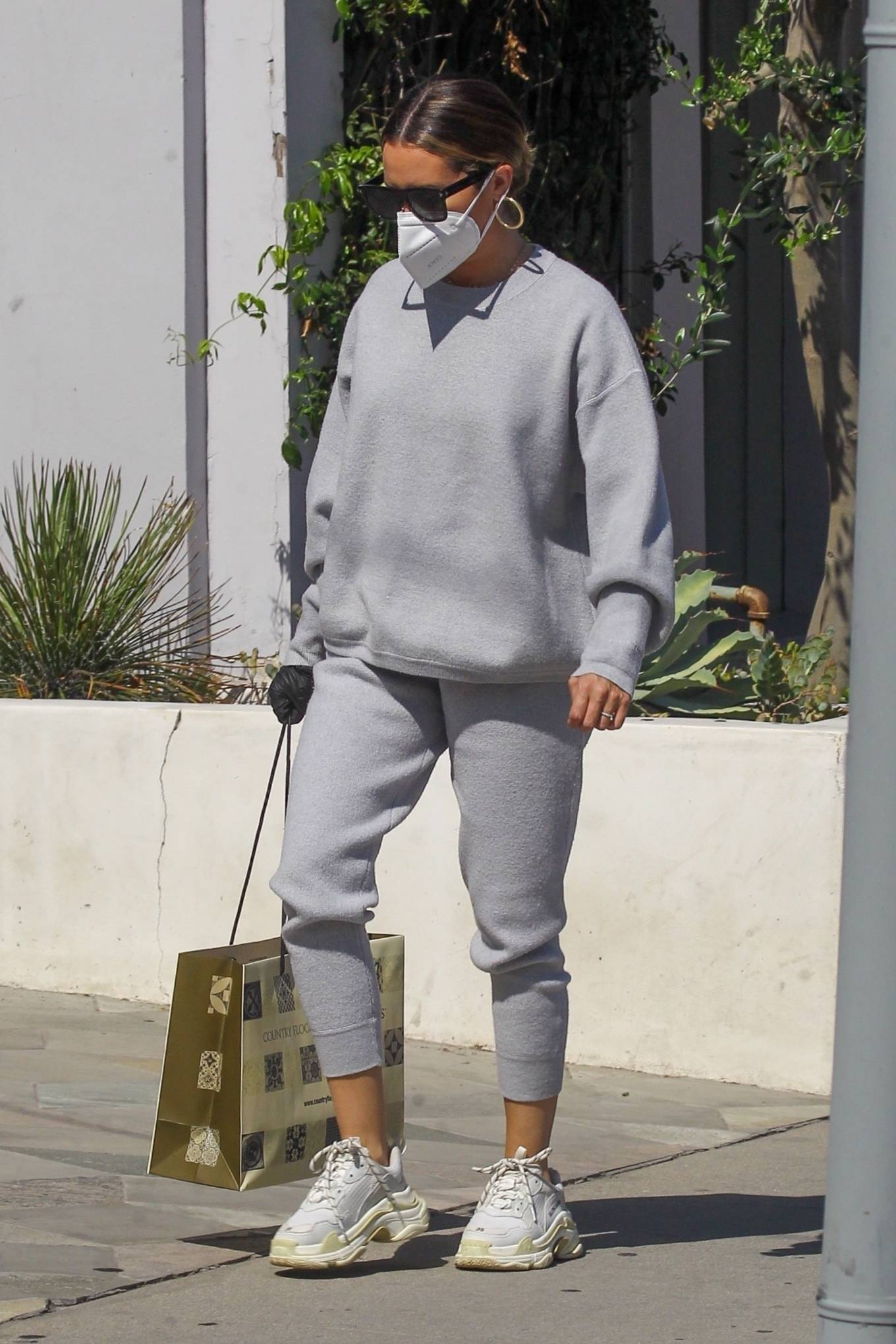 Ashley Tisdale 2020 : Ashley Tisdale – All in gray while out shopping in Beverly Hills-09