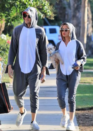 Ashley Tisdale and Christopher French - Head to a Halloween party in Los Angeles