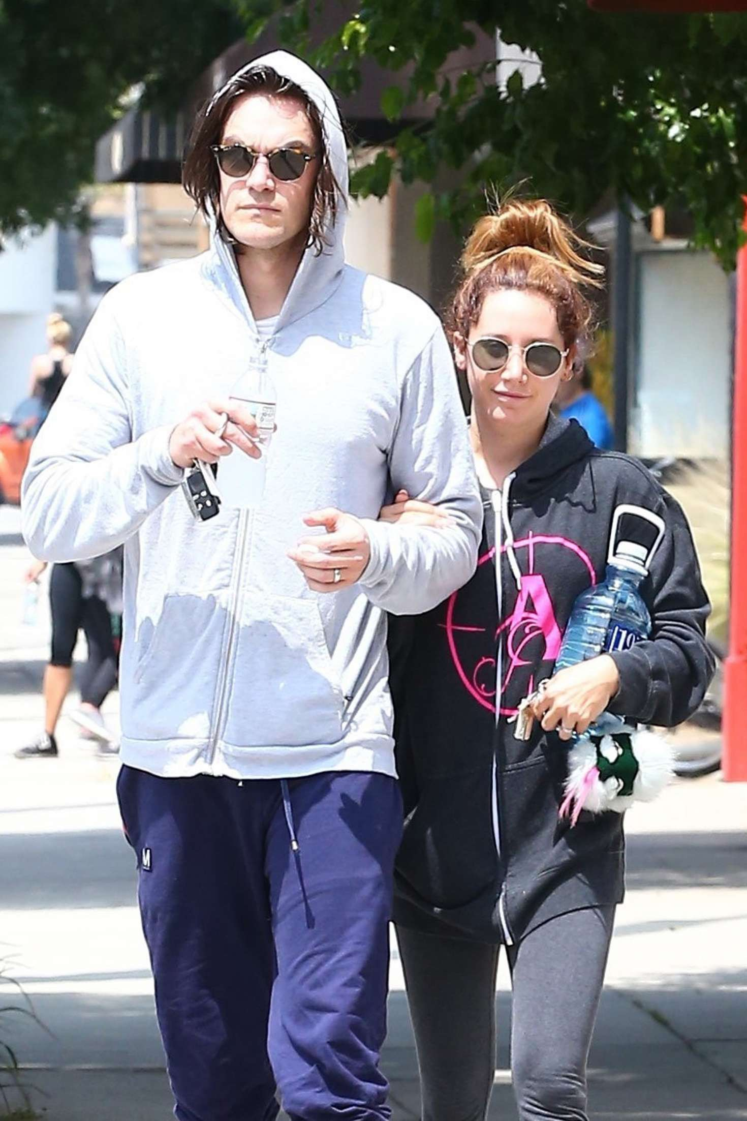 Ashley Tisdale and Christopher French Leaving the gym in Studio City