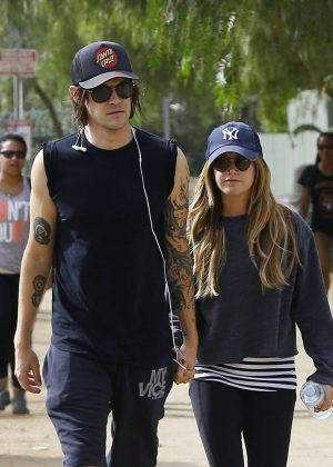 Ashley Tisdale and her husband Christopher French in Hollywood Hills