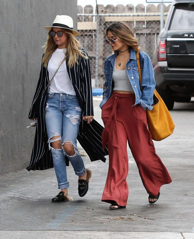 Ashley Tisdale and Vanessa Hudgens Out in Beverly Hills
