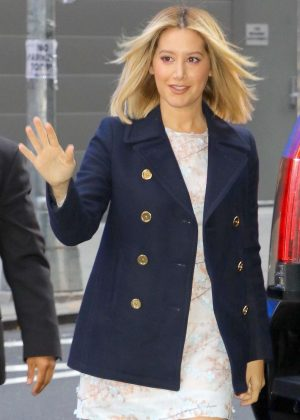 Ashley Tisdale - Arrives at the 'Good Morning America' show in NYC