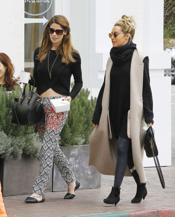 Ashley Tisdale & Ashley Greene - Lunch at Olive & Thyme Cafe in Burbank