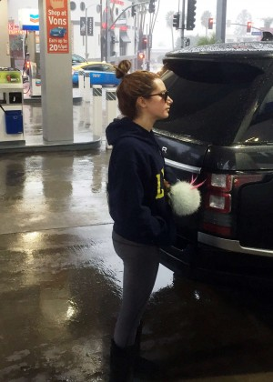 Ashley Tisdale at Gas Station in Hollywood