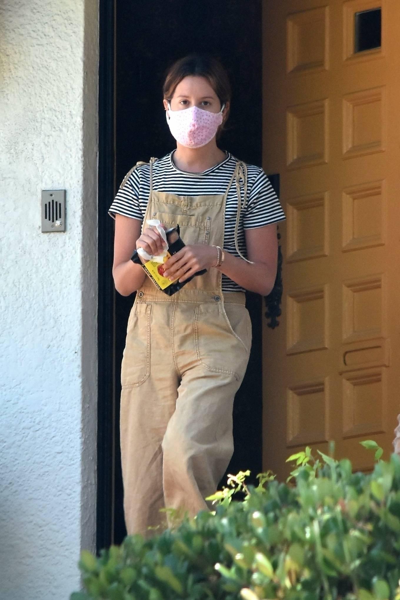 Ashley Tisdale at her house in Los Feliz
