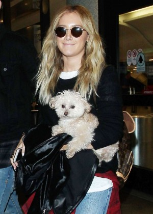 Ashley Tisdale at LAX Airport in LA