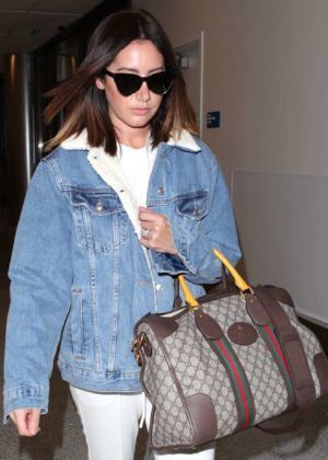 Ashley Tisdale at LAX International Airport in Los Angeles
